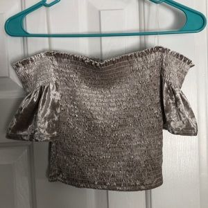 American Threads velvet crop top